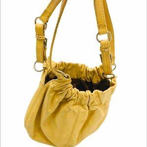 VINTAGE ALDO Tan Leather Boho Shoulder Bag Purse